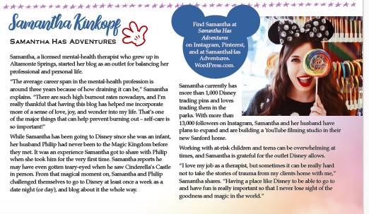 In The Press: Samantha Has Adventures Featured In Lake Mary LifeMagazine
